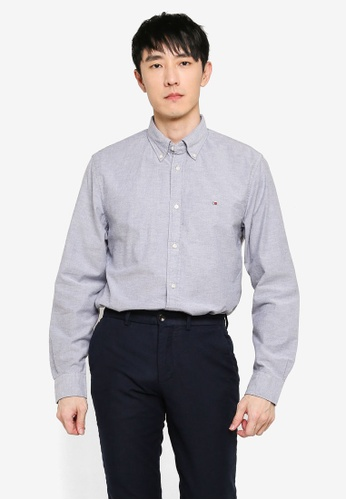 Tommy Hilfiger navy Flex Frosted Oxford Shirt D4093AA7EE1FF9GS_1