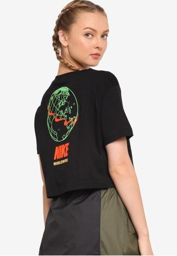 Nike black Women's Sportswear Worldwide 2 Cropped Tee E42C5AAC121411GS_1
