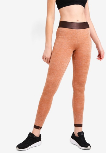 Cotton On Body orange Jacquard Mesh Seamfree Tights 6199EAAF361FFEGS_1