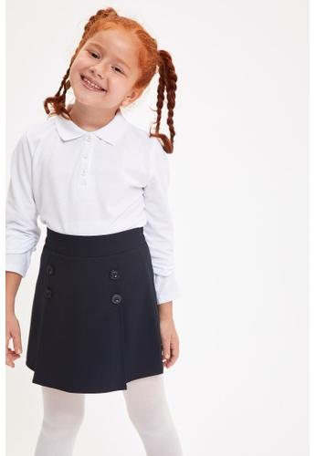 DeFacto white Long Sleeve Cotton Polo T-Shirt 157FAKA9654523GS_1