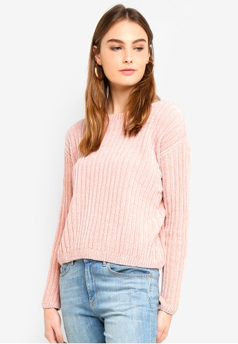 OVS pink Solid Colour Knitted Pullover BF0FAAA7EC6193GS_1