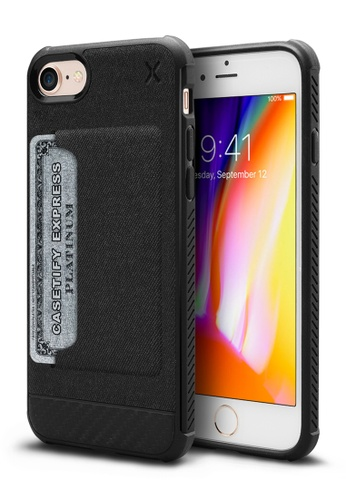 Casetify black Casetify X Essential Woven Card Case for iPhone 7/8 29A5FACADDFD49GS_1