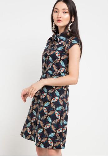 Batik Solo multi Short Sleeve Cotton Print Dress 24417AA46A90A7GS_1