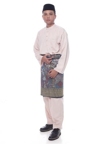 Denai Boutique beige Baju Melayu Faleeq 44F34AAB8A88ABGS_1