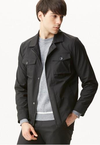 雅致商務。防潑水機能夾克外套-11075-黑zalora 台灣門市色, 服飾, 外套