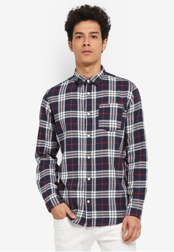 Jack & Jones blue and navy Fresh Shirt E4F21AA975C165GS_1