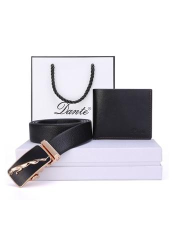 Jackbox black Dante Set of 2 Black Leather Automatic Buckle Men's Belt Wallet 883 JA762AC73UWOMY_1