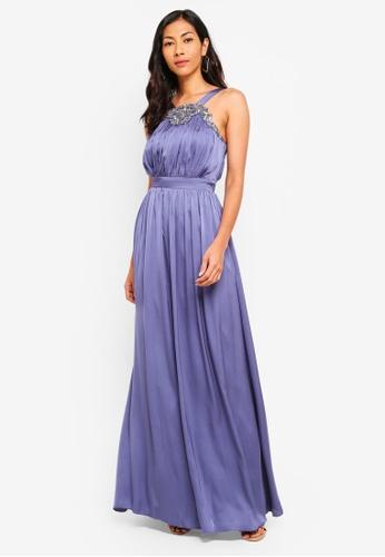 Little Mistress purple Lavender Jewel Maxi Dress 38D14AA4694736GS_1