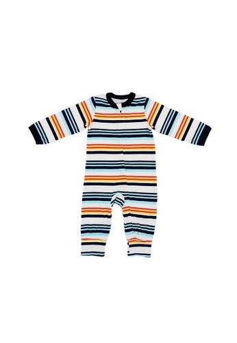 Baby Lovett multi Fancy Stripes Two-Way Zipper Suit A4441KA9E23544GS_1