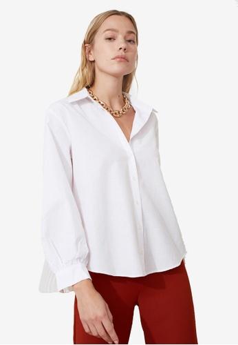 Trendyol white Relaxed Fit Basic Shirt C955EAA0835CAFGS_1
