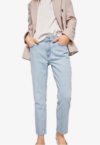 Mango blue Sayana Organic Cotton Straight Jeans F14D5AAFD5F0BDGS_1