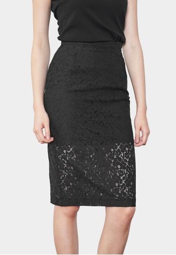 蕾絲及膝短裙, 服飾, esprit專櫃裙子