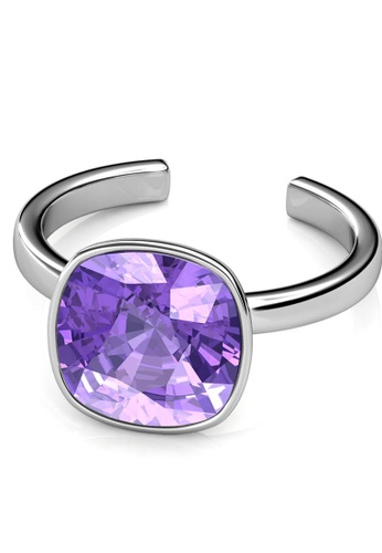 Her Jewellery silver Her Jewellery Amethyst Ring (Purple) Embellished with Crystals from Swarovski® AD810ACDC7AAB4GS_1