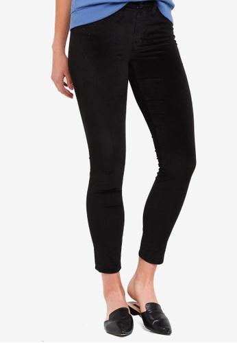 J.Crew black 9 Inch Toothpick Velvet Jeans A2ED6AAE389FB6GS_1