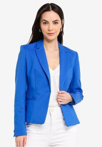 Mango blue Essential Structured Blazer 50030AAB3FC28AGS_1