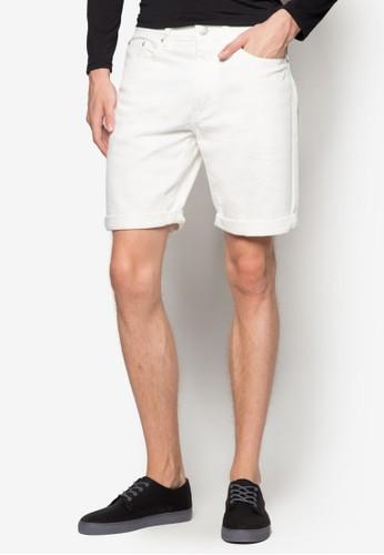 Slub 反褶丹寧短褲、 服飾、 短褲ElectroDenimLabSlub反褶丹寧短褲最新折價