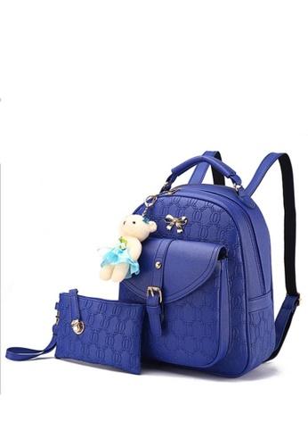 TCWK blue Set of 2pcs Ladies Backpack TC258AC48JBVMY_1