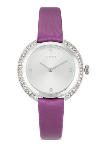 AGNISesprit地址水鑽皮革圓錶, 錶類, 飾品配件