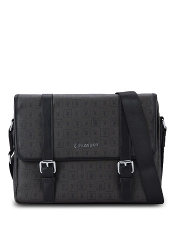 Playboy black Playboy Messenger Bag PL371AC25PEKMY_1