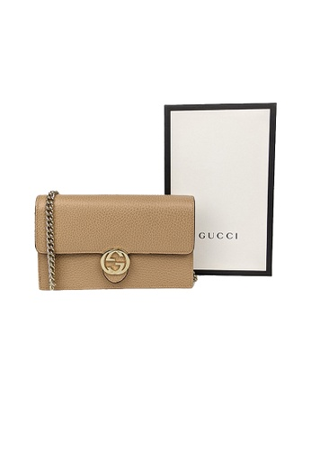 GUCCI beige Gucci Icon GG Interlocking Wallet On Chain Crossbody Bag Beige 510314 B933EAC5BF1621GS_1