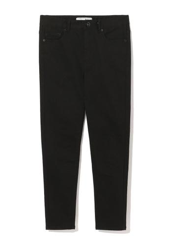 :CHOCOOLATE black Skinny cropped jeans DAA85AA20D6D87GS_1