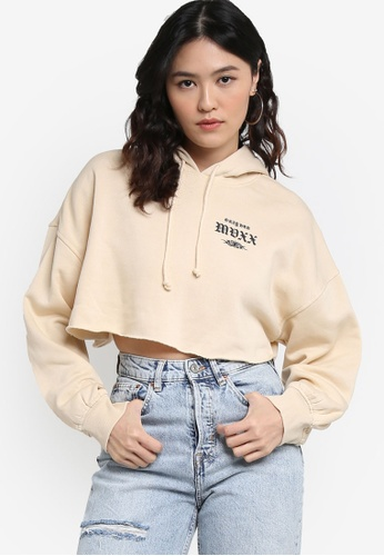 H&M multi and beige Cropped Hoodie 568A4AA254D9D3GS_1