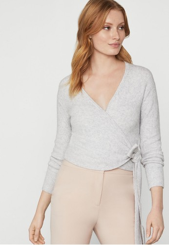 BCBG Max Azria grey Wrap Sweater 60767AAC14EE91GS_1