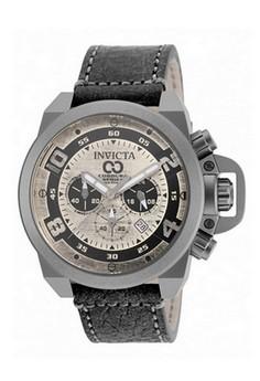 Corduba Men 50mm Nero Leather Silver dial VD53 Quartz