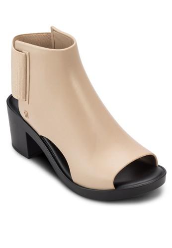彈性鏤空esprit 台灣粗跟踝靴, 女鞋, 鞋