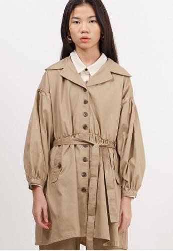 Bobo Tokyo beige Matsui Coat - Beige D9C67AA24EEAC8GS_1