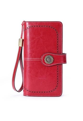 Twenty Eight Shoes red VANSA Burnished Leather Bi-Fold Long Wallet VBW-Wt5162 8B8FEACF9C2F15GS_1