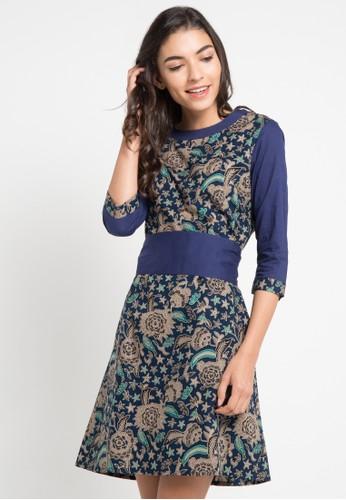 Rianty Batik Dress Viola