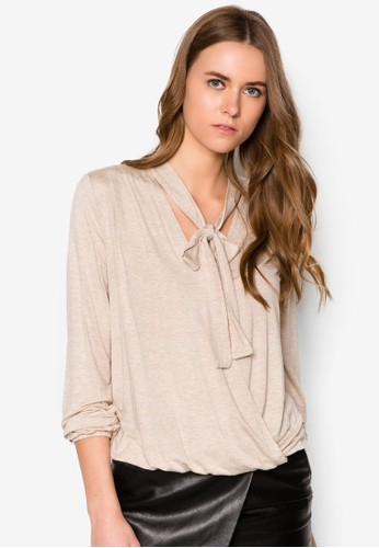 裝飾領結長袖衫, 服飾esprit台灣網頁, 服飾