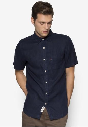 Hampton 亞麻短袖襯esprit home 台灣衫, 服飾, 襯衫
