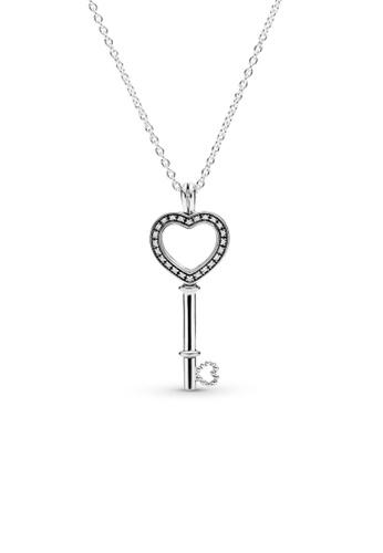Pandora silver Pandora Lockets Heart Key Necklace (80cm) 9AF54AC2AC2E21GS_1