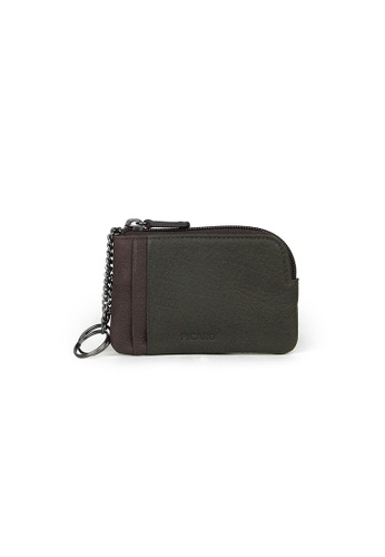 Picard green Picard Dallas Coin Pouch with Key Ring in Khaki 0ADA0AC72763B4GS_1