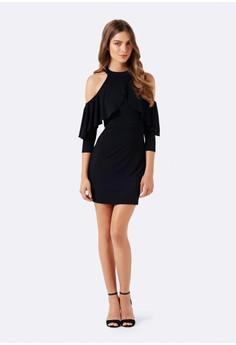Rita Cold Shoulder Ruffle Dress