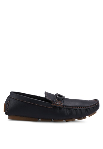 UniqTee black Casual Slip On with Buckle 77596SH2D9F904GS_1