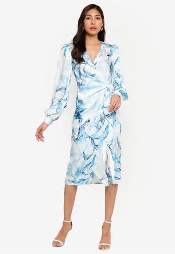 River Island blue Wrap Midi Dress 7733EAA12D0043GS_1