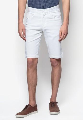鈕扣帶休閒短褲, esprit outlet 高雄服飾, 短褲