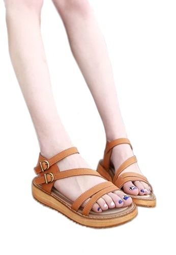 1cbb9ad62cd7 Buy Twenty Eight Shoes Leather Strappy Platform Sandals VS6668 ...