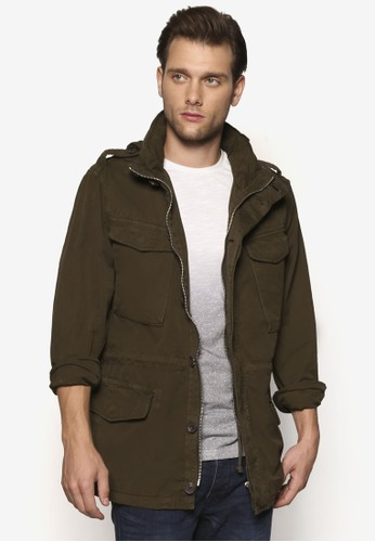 多口袋式拉鍊外套, 服飾,esprit tsim sha tsui 服飾