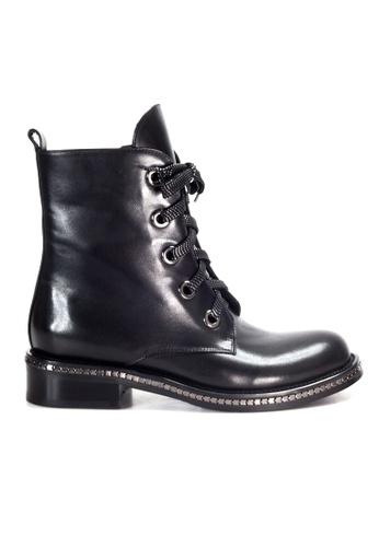 Shu Talk black Amaztep Causal Mid-calf leather Boots 6E29BSH3F3177CGS_1