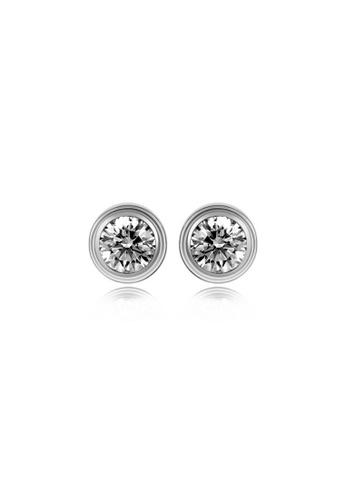 CELOVIS silver CELOVIS - Lux Zirconia Solitaire Stud Earrings in Silver FF876AC34C6B49GS_1
