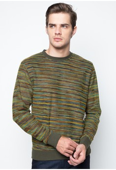 Pullover Melange with Wrong-Side Stitch Details