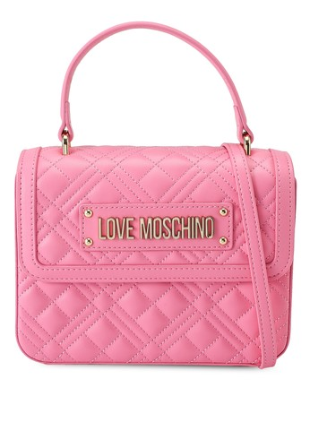 Love Moschino pink Quilted Top-Handle Bag 95EAAACA927513GS_1