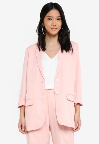 ZALORA pink Oversized Blazer E93CBAAB52A4A3GS_1