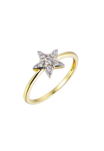 Khoe yellow Khoe 18K Yellow Gold Diamond Star Ring EEBFCAC9955A31GS_1