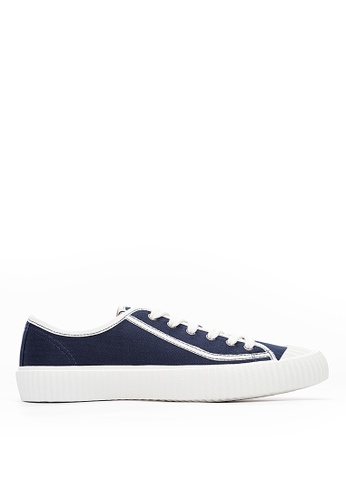 Life8 blue Men&Women Casual American Canvas Shoes-09849-Deep Blue 8B2B1SHDB6F289GS_1