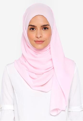 Lubna pink Basic Shawl CBBF6AA2B29957GS_1